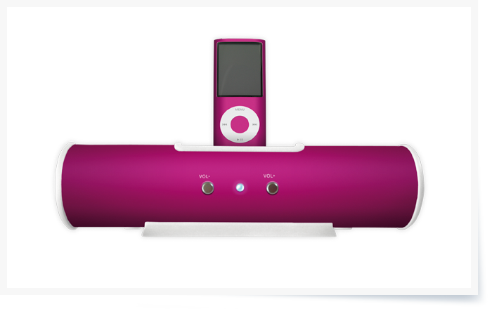 Sound Tube with iPod nano 4. Generation